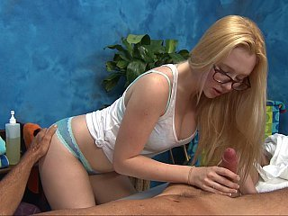 Sexy teen masseuse begs a fuck