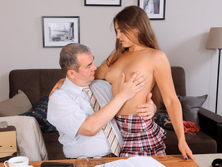 Teacher gives sexy student private sex lesson